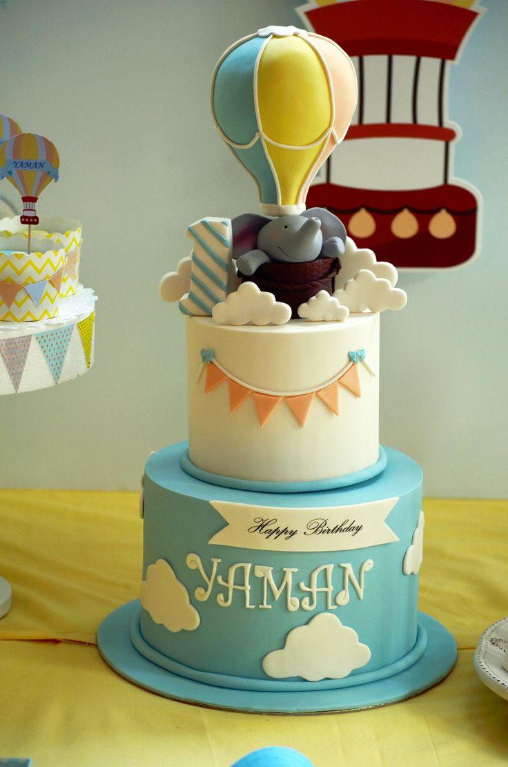 Sıcak Hava Balonu Temalı 1 Yaş Doğum Günü Partisi