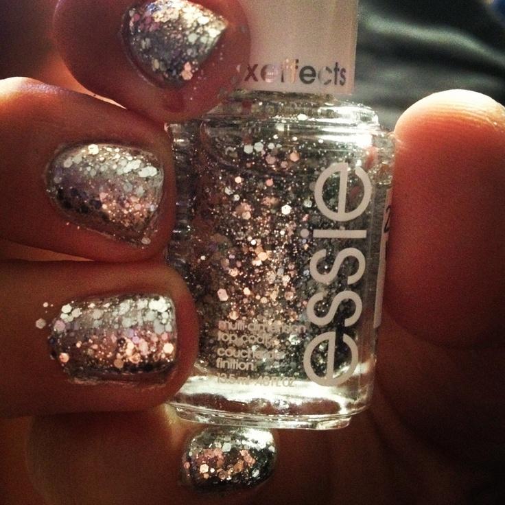 Gold Glitter Nail Polish Essie- HireAbility