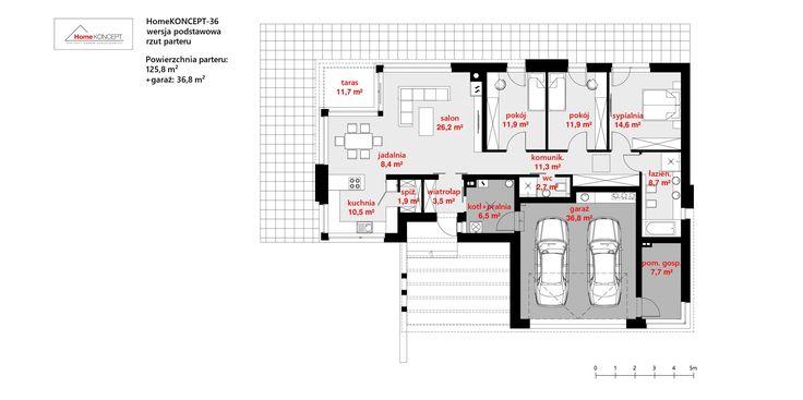 Projekt domu HomeKONCEPT-36 | HomeKONCEPT