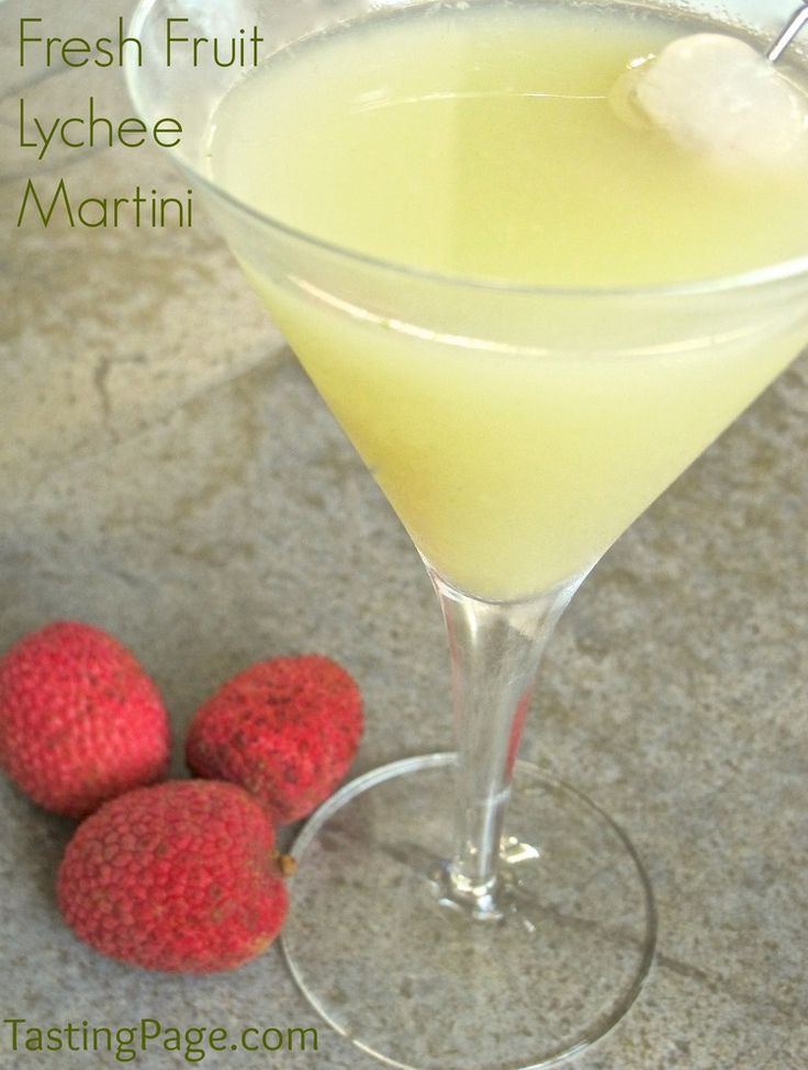 Fresh fruit lychee martini with all natural products and no sugar added