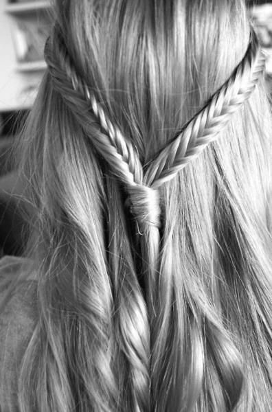 Fish tail braid. I need my own hair stylist to do my hair every morning. I just decided.