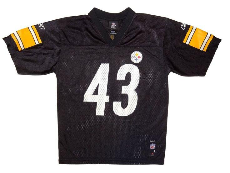 e59a5168c2f Polamalu during the 2007 season Pittsburgh Steelers 43 Troy Polamalu Jersey  Youth Boys Size L Large Reebok Reebok PittsburghSteelers ...