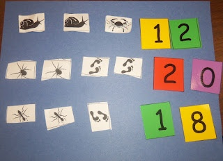 addition using one is a snail ten is a crab