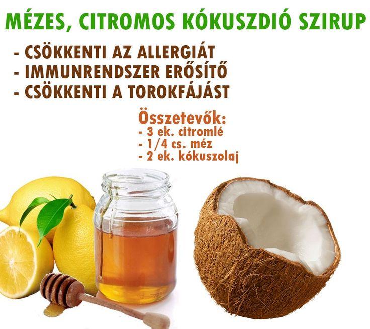 Mézes, citromos kókuszdió szirup   Socialhealth