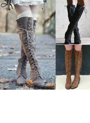0c77b9152c0f Latest fashion trends in women s Shoes. Shop online for fashionable ladies   Shoes at Floryday - your favourite high street store. Lace-up Knee High  Boots ...