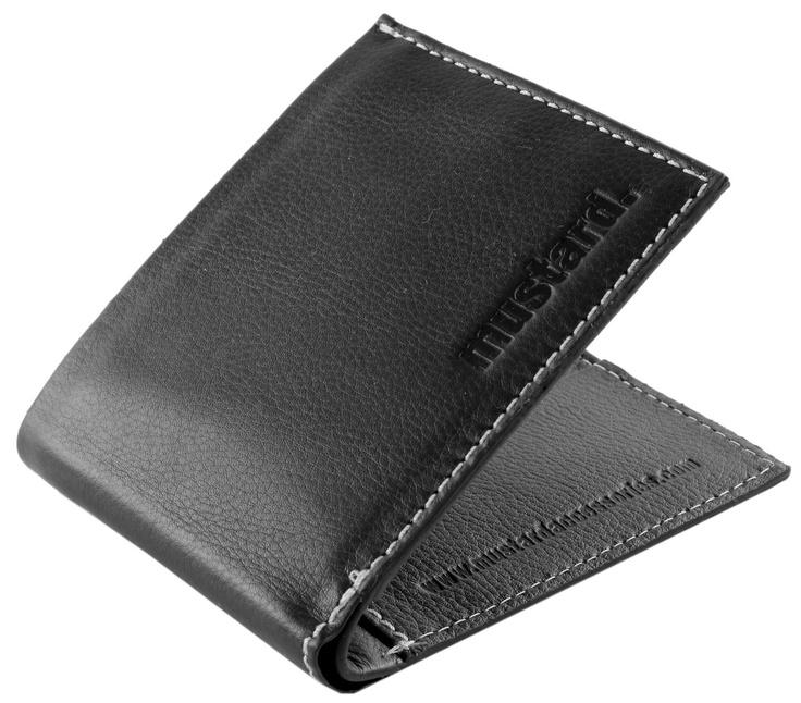 Mustard Wallet - Black Karn Leather Wallet #Mustard #Mens #Wallet