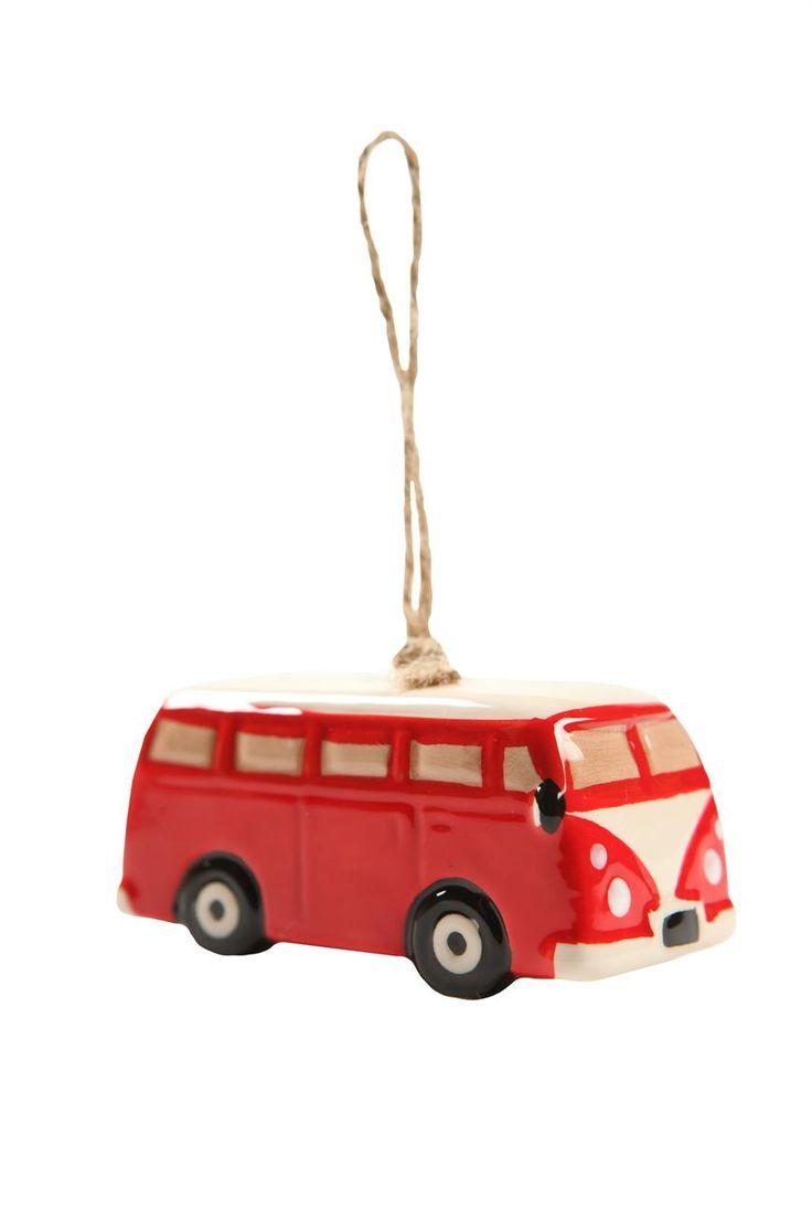 ceramic ornament #typoshop #christmas #decoration #xmas #tree #diy #kombi #van #hippie #wanderlust #travel #ornament