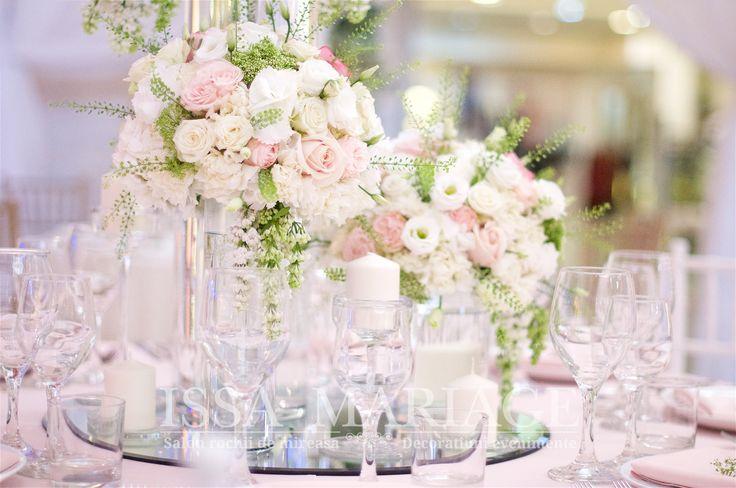 Buchete florale nunta ranunculus trandafiri David Austin minirose roz pal IssaEvents 2017