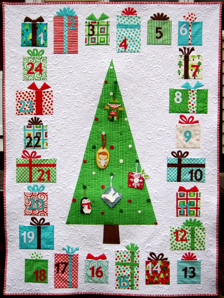 Ahhh...Quilting: Cynthia's super-cool  Advent Calendar Quilt