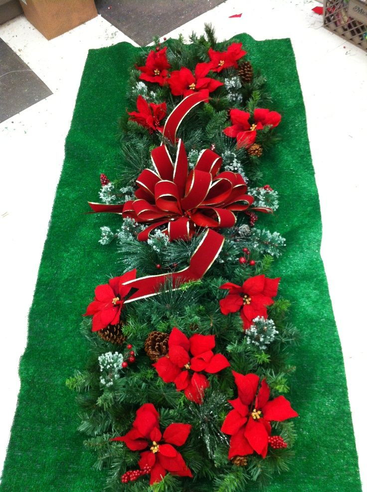 Grave Blankets Christmas Blanket Crafts Flower Arrangements Decorations Cemetery And Flowers