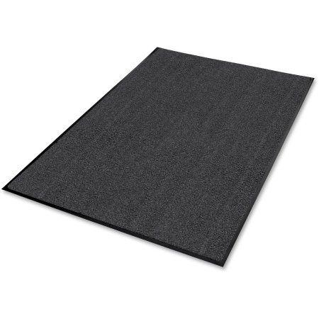 Genuine Joe Indoor Wiper Mat, Nylon Carpet, Rubber Back, 4'x6', Gray - GJO58464