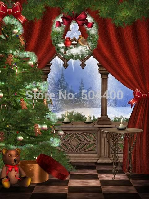 5x10ft Newborn Custom Photography Backdrops Prop Digital Printed Christmas day Photo Studio Background BG-082