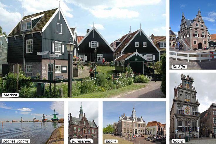 Maak eens een boeiende toeristische autopuzzeltocht door de Noord-Hollandse regio's Waterland en West-Friesland: Marken - Monnickendam - Volendam - Edam - Hoorn - Enkhuizen - Medemblik - Schermerhorn - De Rijp - Middenbeemster - Purmerend - Zaanse Schans - Schellingwoude - Durgerdam - Ransdorp - Broek in Waterland - Marken