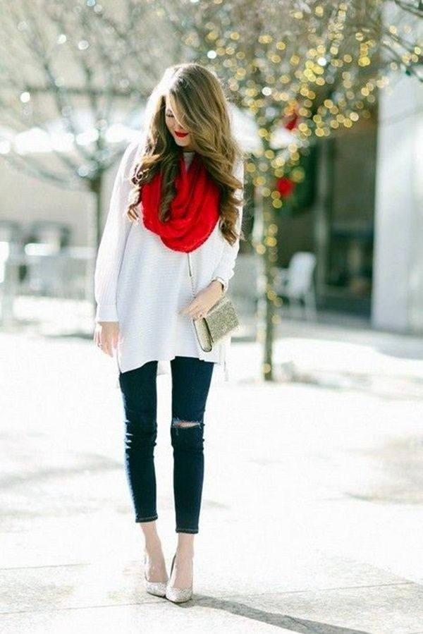 Christmas Outfits.34 Casual Christmas Party Outfits Ideas For Women Over 40