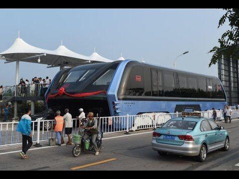 Парящий над мостовой: в Китае испытали новый автобус!