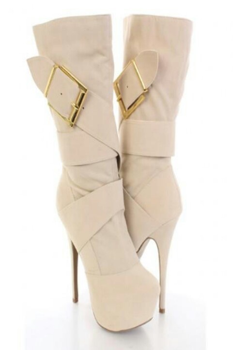 Stiletto platform boot