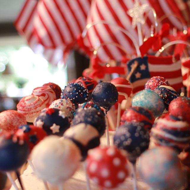 Cake pop 4th of july recipes