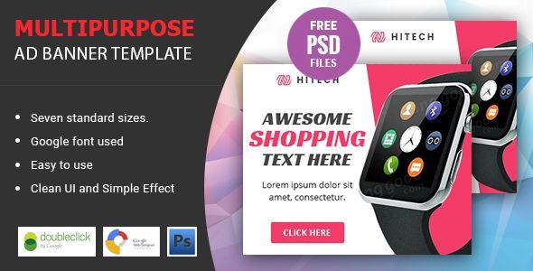 Hitech   Multipurpose HTML 5 Animated Google Banner - CodeCanyon Item for Sale