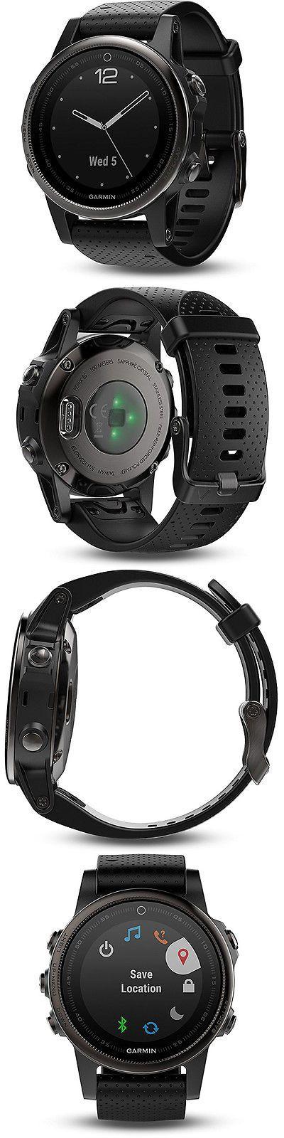 GPS Units: Garmin Fenix 5S Sapphire Multisport 42Mm Gps Watch - Black With Black Band -> BUY IT NOW ONLY: $699.99 on eBay!