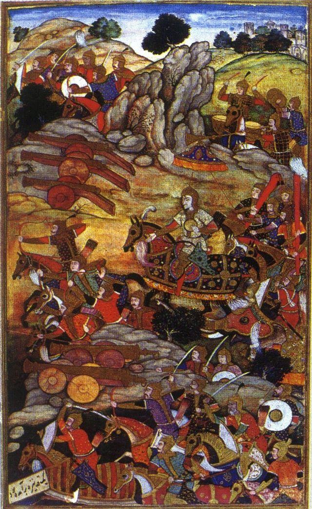 1526-First Battle of Panipat-Ibrahim Lodhi and Babur - Babur - Mughal artillery and troops in action during the Battle of Panipat -Wikipedia, the free encyclopedia