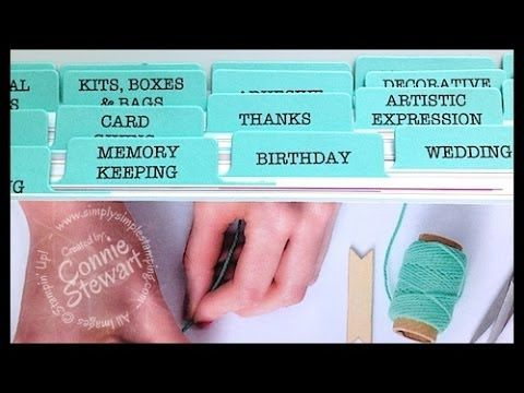 Video - create your own 2014-15 Stampin' Up Catalog Tabs!  Download your copy at www.SimplySimpleStamping.com