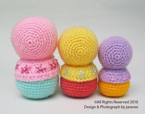 Amigurumi Russian Doll Pattern : Best matryoshka images crochet dolls amigurumi