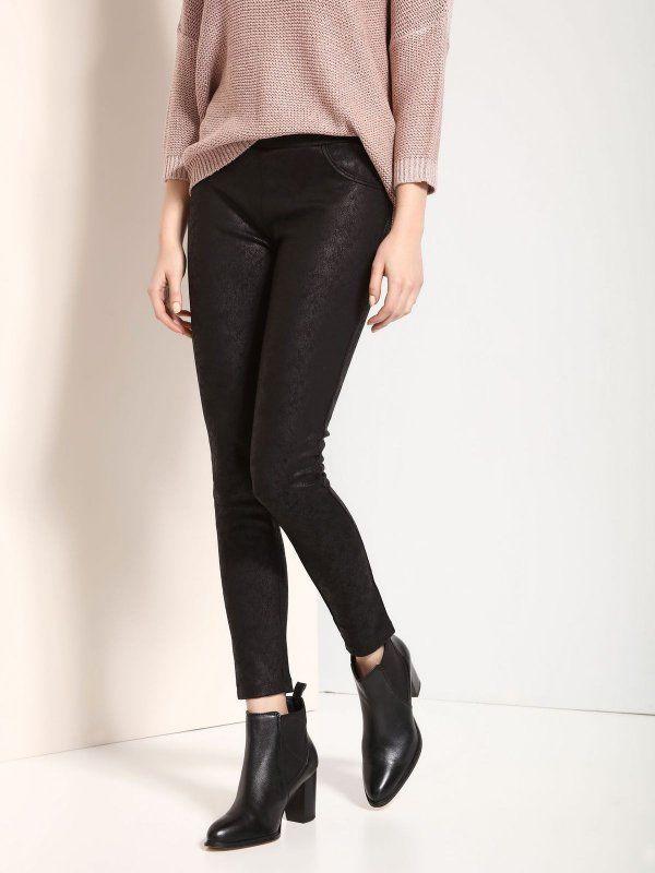 Женские брюки черные  ЛЕГГИНСЫ TOP SECRET - акции, женские брюки по супер ценам.