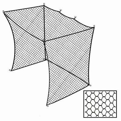 Cimarron 10x14x12 Golf Net Insert For Batting Cages Product Code: CM-1042GNI Turn your batting cage into a multi-use area with our Cimarron Golf Net Insert. The ultimate in convenience as a space save