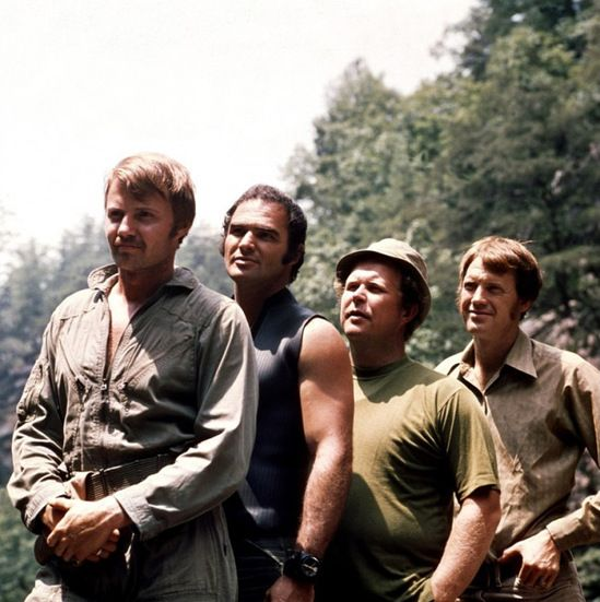 "Jon Voigt, Burt Reynolds, Ned Beatty and Ronny Cox in ""Deliverance""  (1972)"