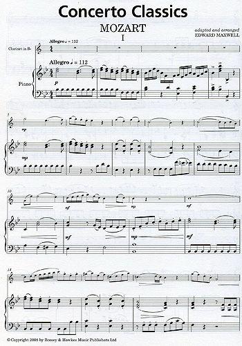 Wolfgang Amadeus Mozart,  Concerto Classics - Contenu