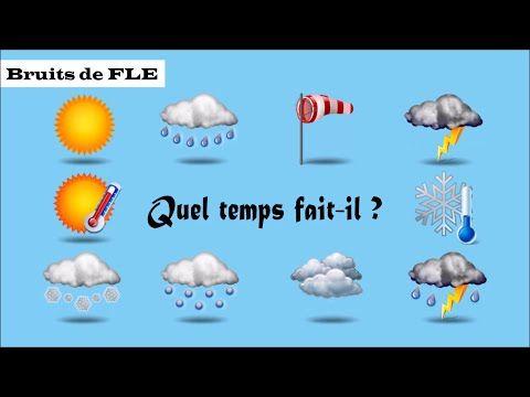 Niveaux A1-A2 : Enseigner/Apprendre le vocabulaire de la météo avec les bruits de la nature.
