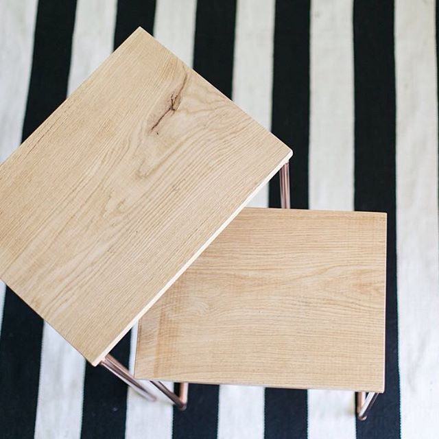 Our table tops are made from imported French Oak wood and they are treated to be suitable for living spaces. #BancHandcrafted