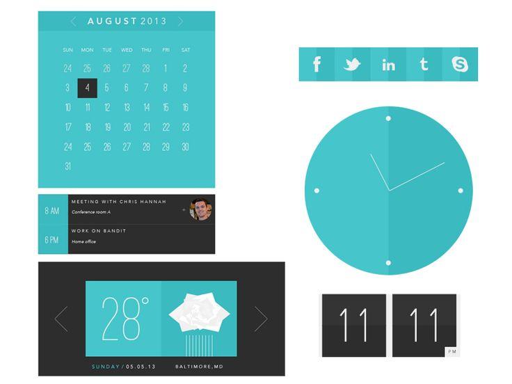 Flat UI Dashboard by Vivek Venkatraman