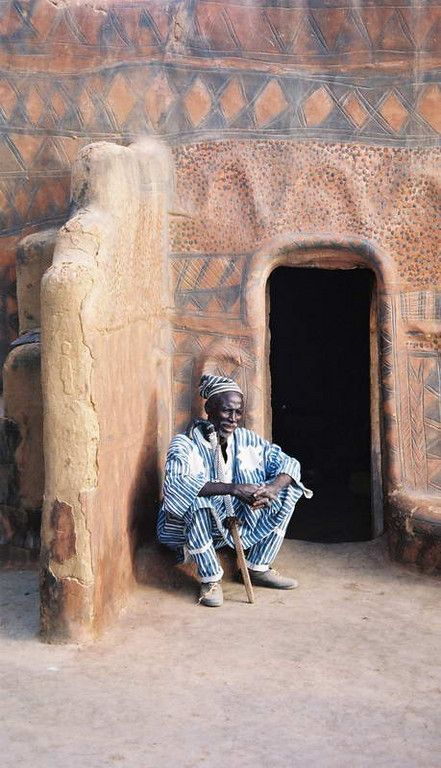 Chef of the Gurunsi village where we camped for the night, in rural Burkina Faso