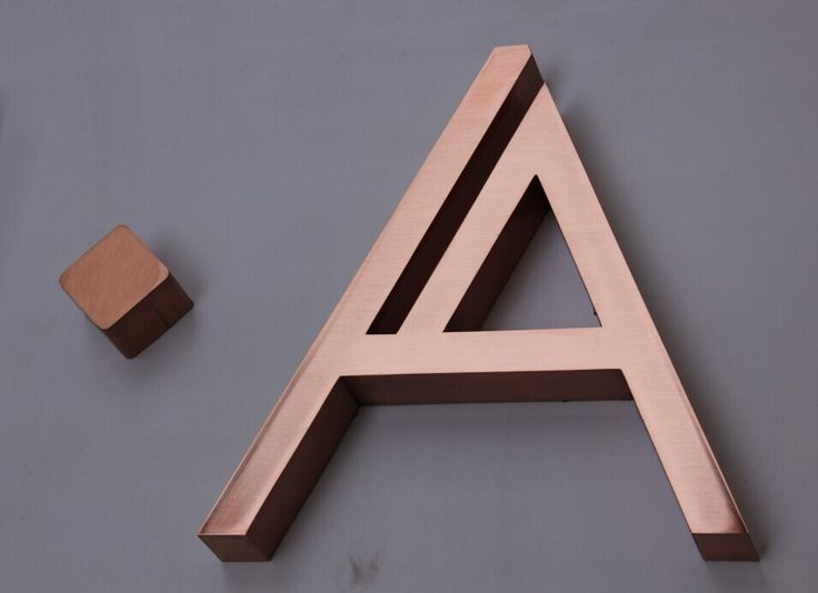 copper signage lettering - Google Search