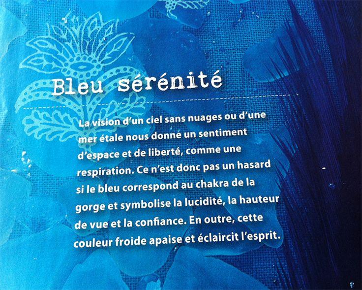 Couleur et spiritualité // Bleu - source Happinez