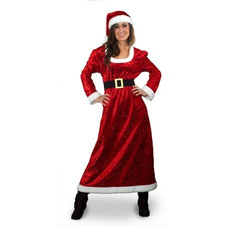 Sunnywood Charming Ms. Santa Costume, Women's, Size: XL, Red
