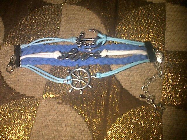 Blue bracelet