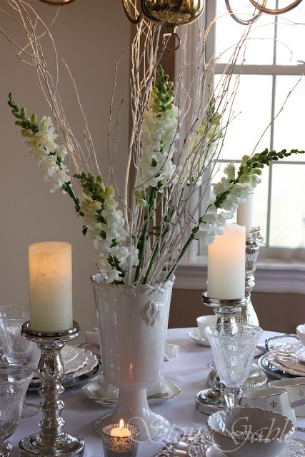 StoneGable: Winter White Tablescape