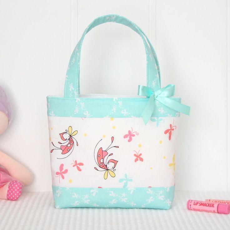 Little Girls Bag - Butterfly Dance Mint