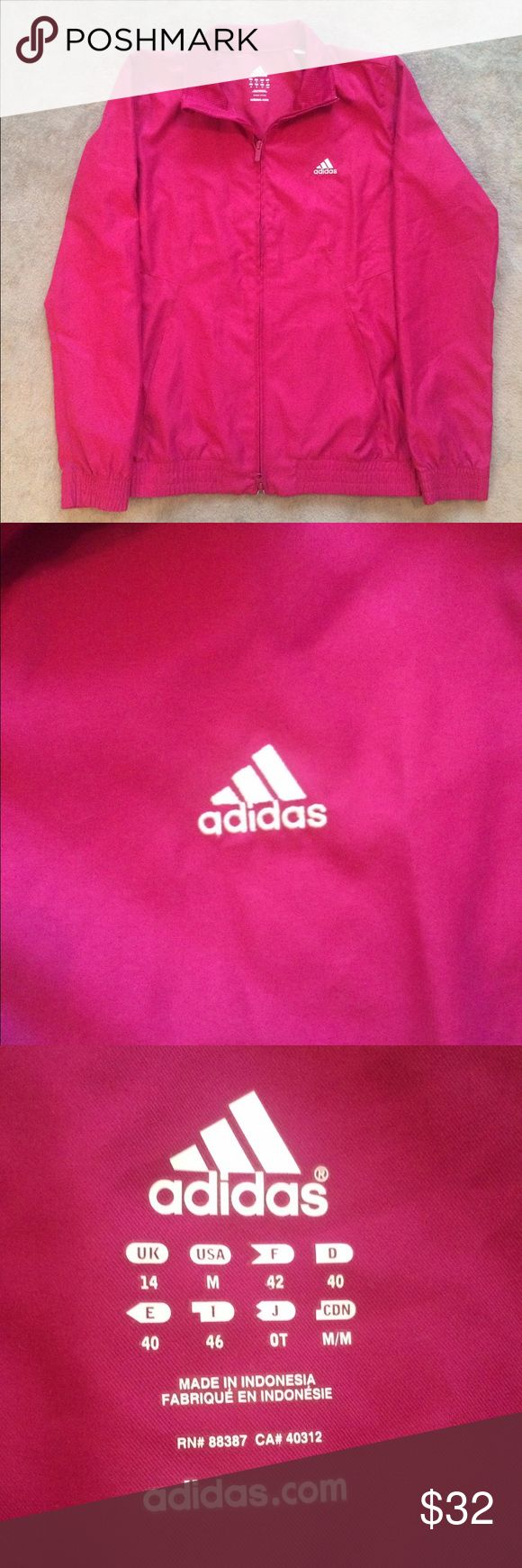 Women's Pink Adidas Track Jacket Women's Pink Adidas Track Jacket. Still in perfect condition, looks brand new! Perfect Jacket for the athletic look and the upcoming fall season! adidas Jackets & Coats