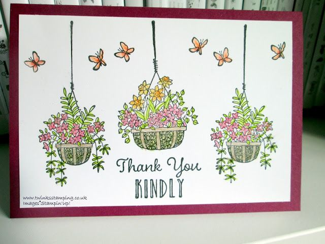 Twinks Stamping | Stampin' Up! Demonstrator: Hanging Garden - Thank You