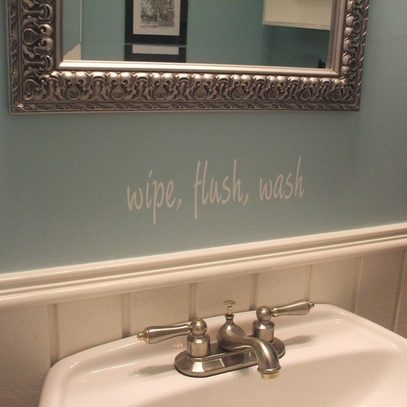 bathroom vinyl wall decal by decalmonograms on etsy