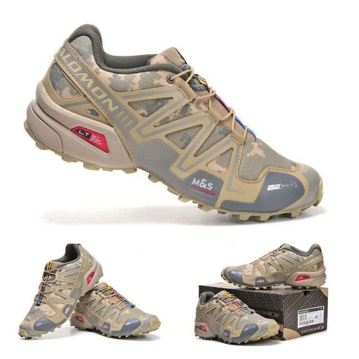Salomon camo trail running shoes   f3fe68774e