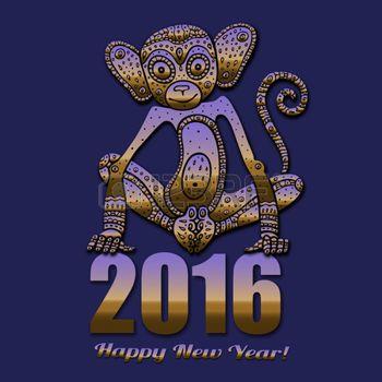 signe astrologique: Singe. signe astrologique des animaux chinois 2016 années, tiré par la main illustration vectorielle. Illustration
