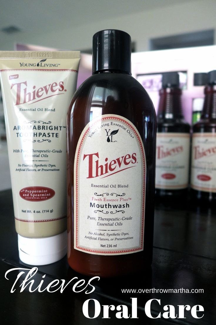 We love Thieves natural #oralcare toothpaste and mouthwash
