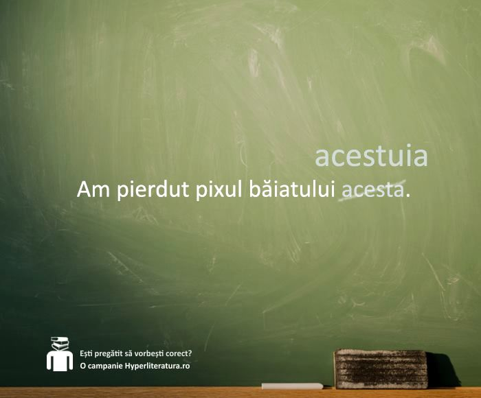 Adjectivul pronominal demonstrativ se acordă în gen, număr și caz cu substantivul determinat.