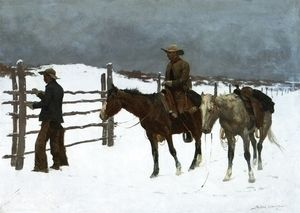 The Fall Of The Cowboy  Frederic Remington