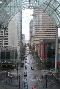 The Skybridge at the Seattle Convention Center.