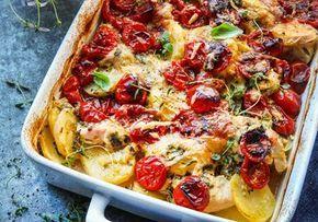 Kyckling- och potatisgratäng